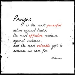 Prayer is a gift-A