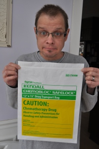 Anti-viral medication, handled like a chemo drug.