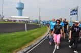 Our team lead the walk